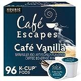 Cafe Escapes, Cafe Vanilla Coffee Beverage, Single-Serve Keurig K-Cup Pods, 96 Count (4 Boxes of 24 Pods)