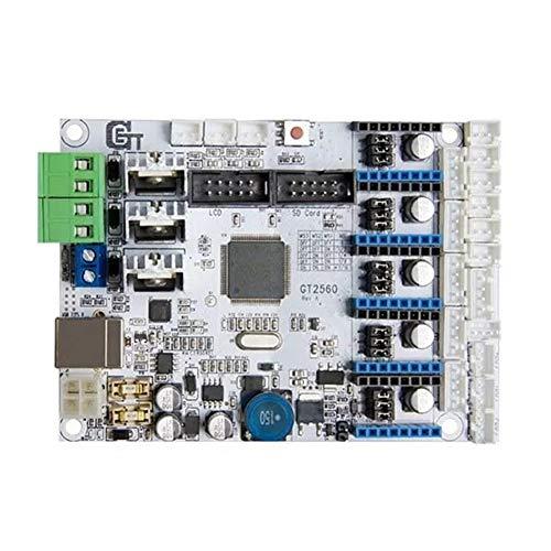 QuanRuiWuLiu Componentes de impresión en 3D Placa del Controlador de la Impresora 3D Compatible GT2560 Mega2560, Duradero