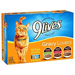 9Lives Gravy Favorites Wet Cat Food Variety Pack, 5.5Oz Cans...