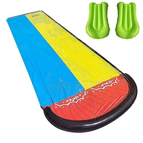 Diapositivas de Agua para niños Adultos - Splash and Slide para Patios Traseros | Toboga de Agua tobogán, al Aire Libre 188.98 Pulgadas de Diapositivas de Agua con Juegos al Aire Libre de Crash Pad