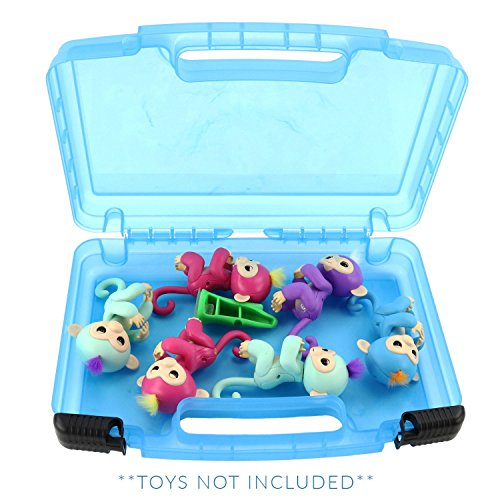 Life Made Better Fingerlings Case, Toy Storage Carrying Box. Figures Playset Organizer. Accessories for Kids by LMB