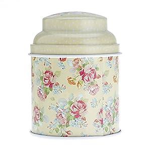 Floral Double couche joint thé bonbon boîte ménage conteneur de stockage jaune