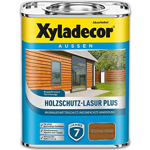 Xyladecor Holzschutz-Lasur PLUS Eiche Hell 2,5 l Außen Imprägnierung Langzeit