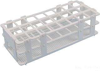 BIPEE پلاستیک لوله رک لوله برای لوله های 25mm، 24 خوب، سفید، قابل جدا شدن (24 سوراخ)