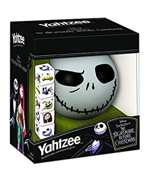 Disney Yahtzee The Nightmare Before Christmas Dice Game   Collectible Jack Skellington Toy   Family Dice Game & Travel Games