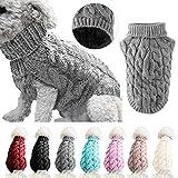 Chaleco suéter para Perros Abrigo cálido suéteres de Invierno de Lana de Punto Suave para Mascotas Ropa de Abrigo de Ganchillo de Punto para Perros pequeños medianos