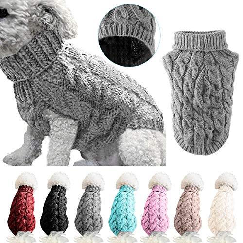 Petyoung Hundepullover Weste Warmer Mantel Haustier weiche Strickwolle Winter Pullover gestrickt...