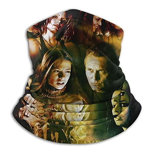 Vampire Slayer Images Buffy – Polaina máscara facial pasamontañas pañuelo a prueba de polvo corte UV calentador de cuello ajustable para hombre mujer negro