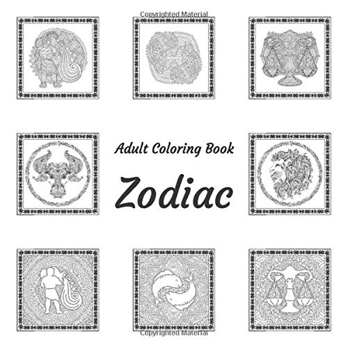 Adult Coloring Book - Zodiac