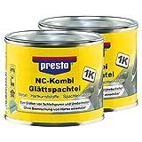 Presto 2X 601532 Nc-Kombi Glättspachtel Porenfrei Glatt Metall Hartkunststoff 25
