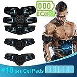 sakobs Abdos Electrostimulateur Musculaire EMS ECO Autonomie Max. 60 H Appareil Stimulateur Electrostimulation Abdominal pour...