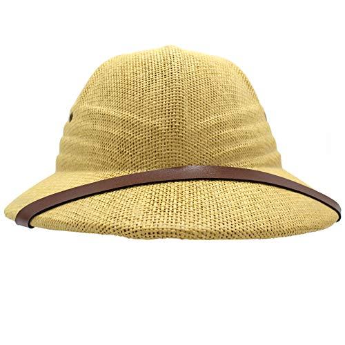 Mamvio Pith Helmet – Pith Hat Costume – Safari Hat – for Adults and Kids Beige