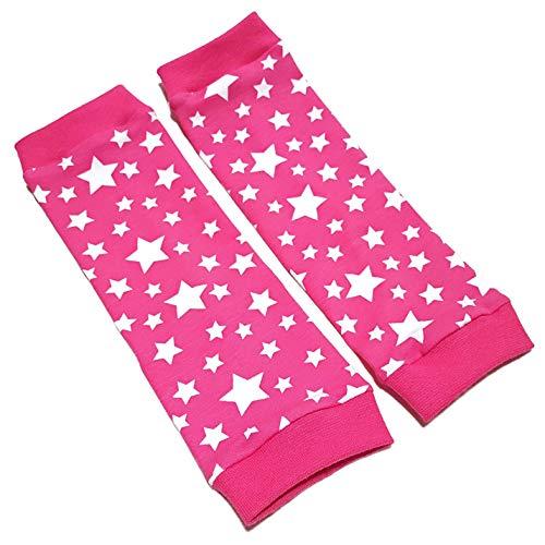 la.nunu la.nunu Stulpen Kinder und Baby Mädchen - Sterne Pink 2-3 Jahre - Kinderstulpen aus Baumwolle - Handarbeit - Beinstulpen Babystulpen