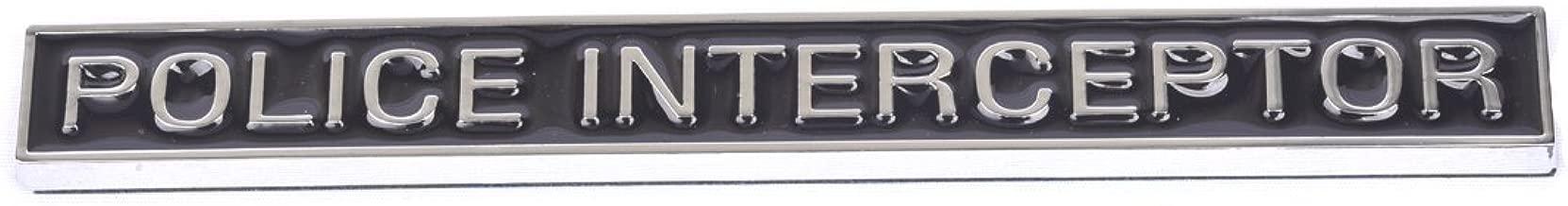 1pc Police Interceptor emblems, 3D emblems Trunk Sticker Decal Sticker Replacement for Explorer Car Accessories Black