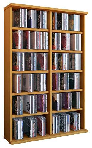 """VCM 50443 Regal Schrank DVD CD Rack Medienregal Medienschrank Aufbewahrung Holzregal Standregal Möbel in 6 Farben """"Ronul"""""""