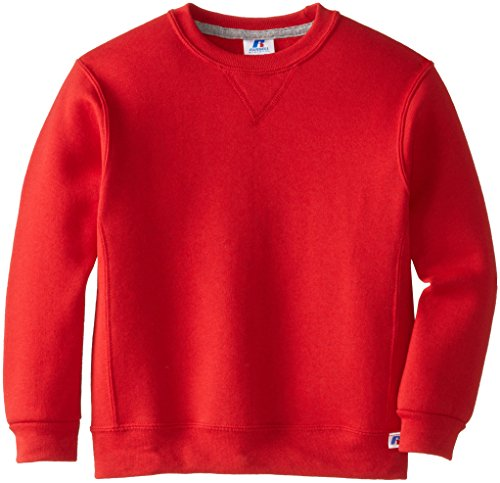 Russell Athletic Athletic Big Boys' Fleece Crew, Sweatshirt-true red, M
