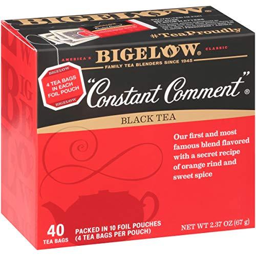 Bigelow Constant Comment Black Tea Bags, 40 Count Box (Pack of 6) Caffeinated Black Tea, 240 Tea Bags Total
