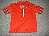 Unsigned Justin Fields #1 Chicago Custom Stitched Orange Football Jersey Various Sizes New No Brands/Logos (S)