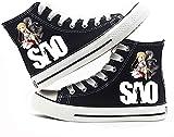 Sword Art Online、Sao Unisex Anime Zapatos de lona Estudiante Casual Sneakers-A_4.5UK