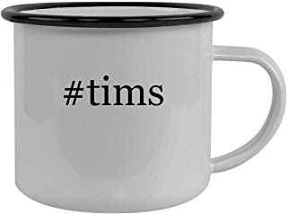#tims - Stainless Steel Hashtag 12oz Camping Mug, Black