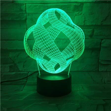 jiushixw 3D acryl nachtlampje met afstandsbediening kleurverandering tafellamp abstract mini mini desktop grote crème voor tafellamp bamboe