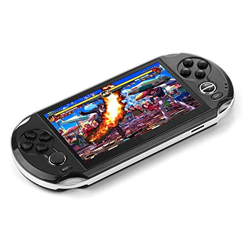 "DREAMHAX Coolbaby Handheld Game Console with Free 10000 Games, Portable Video Games with 8GB + 32GB Storage, Classic Arcade Retro Game Player Gameboy Birthday Gifts Presents (5.0"" Screen)"