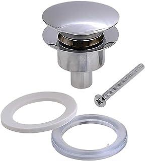 Kibath L172143 Válvula Clic Clac universal fabricada completamente en latón. Compatible con sifones de lavabo y rejillas convencionales, Cromo Brillo