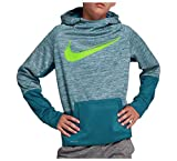Nike Youth Boys Athletic Dri fit Pullover Performance Therma Hoodie (XL 18) Blue