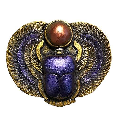 Mankvis Antiguos Adornos Estatua Egipcio, Egipcio Antiguo del Escarabajo Amuleto De Oficina Modelo De Estatua De Recuerdos Vinería Decorative Collectibles 13.8 × 11 × Los 3.5CM