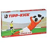 TIPP-KICK Junior Cup mit Bande 83x56 cm – Spielfertiges Set mit 2X Spieler, 2X Torwart, 2X Plastiktor, 2X Ball I Spielfeld aus Filz