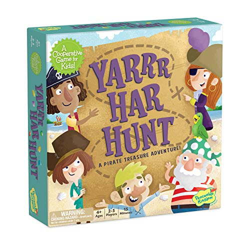 Peaceable Kingdom YARR Har Hunt - Cooperative Counting Seek-and-find Game - Use Teamwork to Win! - Perfect for Families with Kids Ages 4 & up