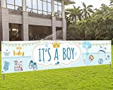 It's A Boy Sign Banner Baby Shower Yard Sign Party Decoration Photo Booth for Boy,Baby Shower Decoration for Boy, Baby Shower Banner Backdrop Background for Baby Shower Gender Reveal Party (Blue)