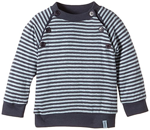 Lana Natural Wear Pulli Momo Pull, Multicolore (Ombre Blue-Blue Air 2204), FR: 12 Mois (Taille Fabricant: 74/80) Mixte bébé