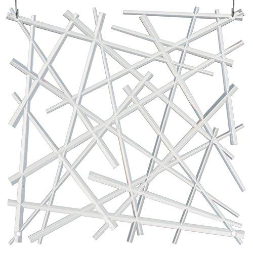 koziol Raumteiler Stixx, Kunststoff, transparent klar, 0.4 x 27.2 x 27.2 cm