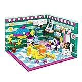 Casa de muñecas en miniatura con muebles, Puzzle Bloques de construcción Ensamblaje innovador DIY juguete, bloques de construcción juguetes 3D DIY Cottage montado
