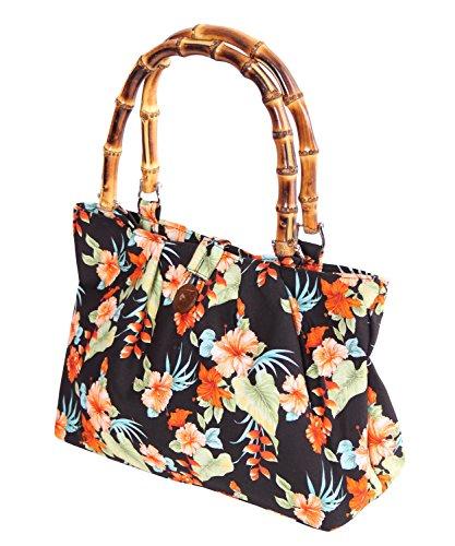 SugarShock Akamu Hawaii Blüten Damen Handtasche, Farbe:Schwarz