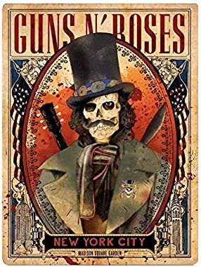 Plaque Acier Slash Guns N' Roses Skull at New York City Madison Square Garden