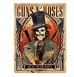 Placa de acero Slash Guns N' Roses Skull at New York City Madison Square Garden