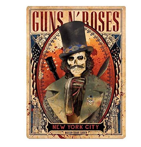 Placa de acero Slash Guns N' Roses Skull at New York City Madison Squa