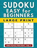 Sudoku for Beginners: 101 Easy Large Print Puzzles, One Puzzle Per Page Vol 1 (Large Print Brain Games)