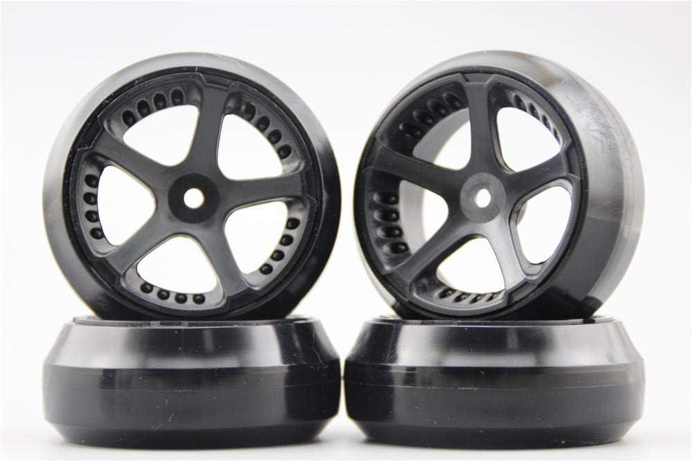 GzxLaY 4pcs 1 Al sold out. 10 Hard Drift OFFer Tire 3mm W5S5NK Offse Tyre Wheel Rim