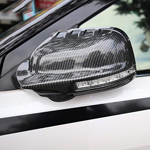 ABS kolfibersidospeglar överdragsklädsel tillbehör till bil dekoration, för Ford Explorer 2011-2019 2017 2018 2016