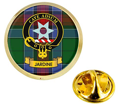 Jardine Scottish Clan Crest Lapel Pin Badge in Gold Colour Product Of Scotland