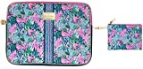 Lilly Pulitzer Soft Padded Tech Sleeve with Zip Pouch for Accessories, Laptop Case Fits up to 15 Inch Computer, Bringing Mermaid Back
