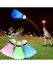 LEDバドミントンシャトルコックバドミントン用ダークナイトライティングバーディー、屋内/屋外スポーツ活動用プラスチックバドミントンシャトルコック