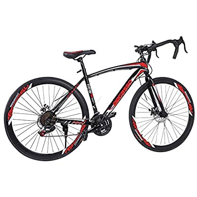 XINQITE Road Bike 700c Racing Bike with 21 Speeds Shimanos Drivetrain,Aluminum Alloy Frame, Rider Bike Faster and Lighter Commuter Bicycle, Men/Women Road Bike 【US Stock】