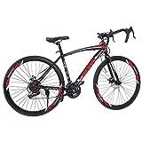 XINQITE Road Bike 700c Racing Bike with 21 Speeds Shimanos Drivetrain,Aluminum Alloy Frame, Rider Bike Faster and Lighter Commuter Bicycle, Men/Women Road Bike 【US Stock】