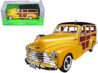 Welly 22083gld 1948 Chevrolet Woody Wagon Fleetmaster Gold 1-24 Diecast Model Car