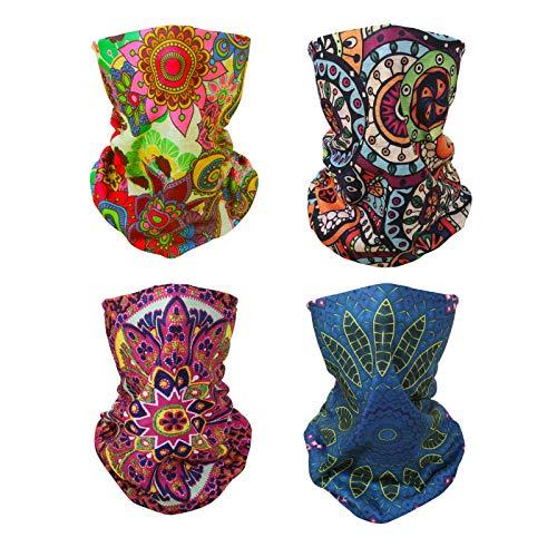 4x Bohemian Flower Multifunctional Elastic Seamless Headwear Bandana...