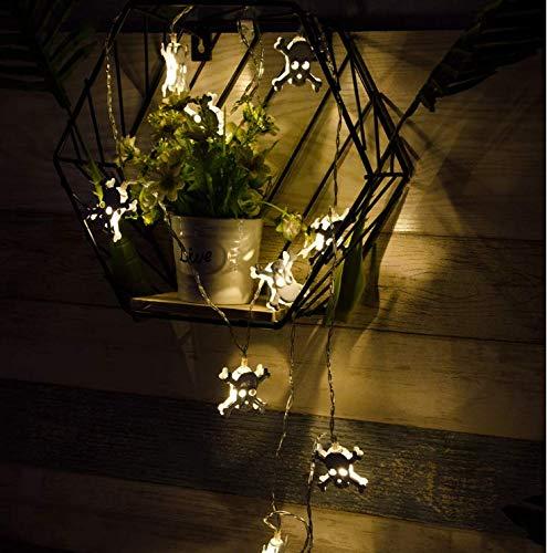Eisen Kunst Halloween Pendelleuchte String LED Laterne USB Halloween Aktivität lustige Lichter Schlafzimmer Outdoor dekorative Lichter